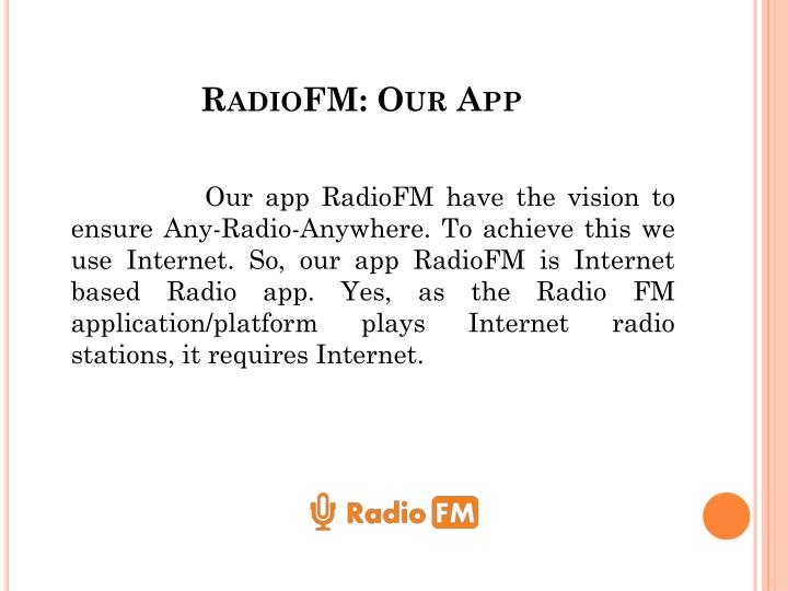 Radiofm our app