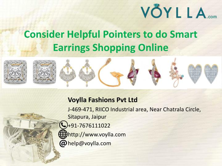 consider helpful pointers to do smart earrings shopping online n.