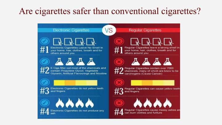 Are cigarettes safer than conventional cigarettes?