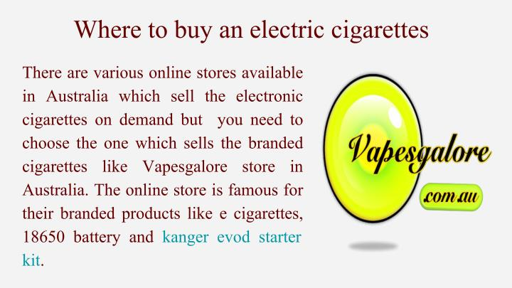 Where to buy an electric cigarettes