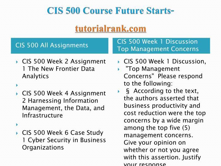 cis500 week1 Hum 150 uop course tutorial / tutorialoutlet -for more course tutorials visit wwwtutorialoutletcom hum 150 week 1 dq 1 hum 150 week 1 dq 2 hum 150 week 1 dq 3 hum 150 week 1 dq 4 hum 150.