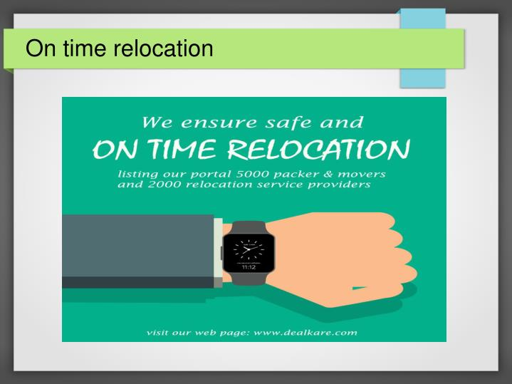 On time relocation