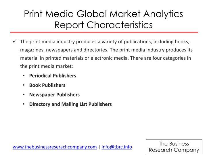 characteristics of media industry