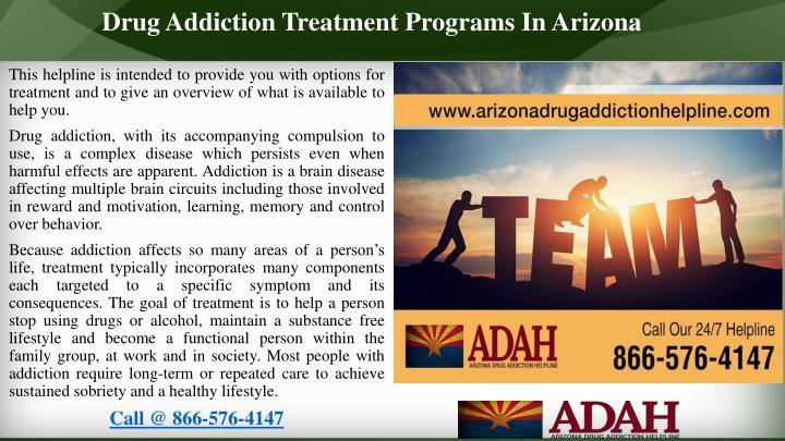 Drug Addiction Treatment Programs In Arizona