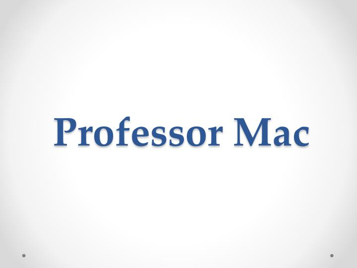 professor mac n.