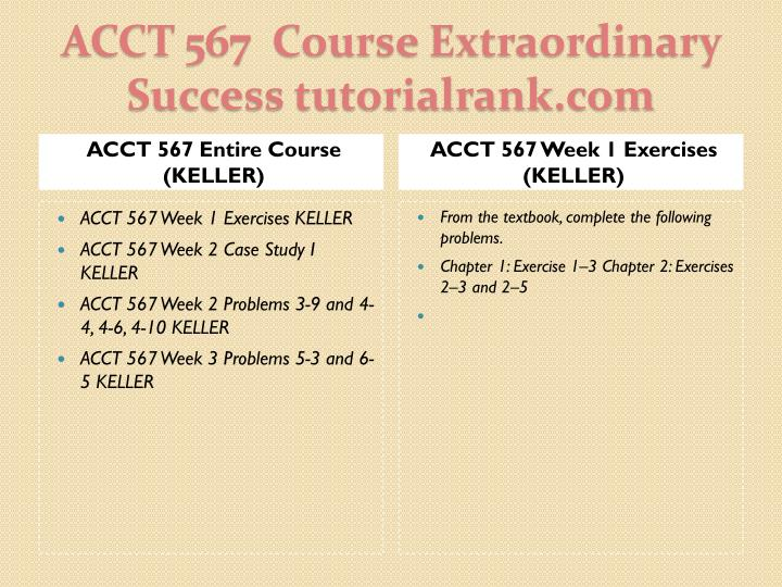 Acct 567 course extraordinary success tutorialrank com1