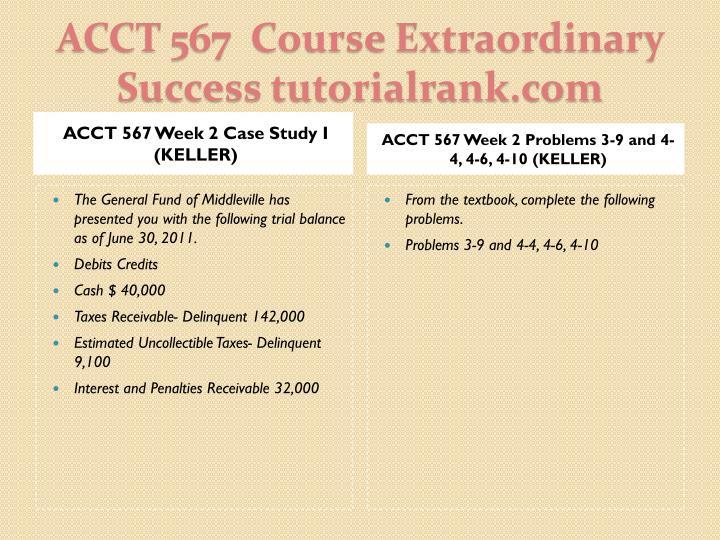 Acct 567 course extraordinary success tutorialrank com2
