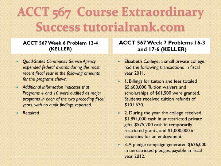ACCT 567 Week 6 Problem 12-4 (KELLER)