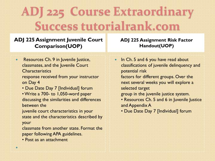Adj 225 course extraordinary success tutorialrank com2