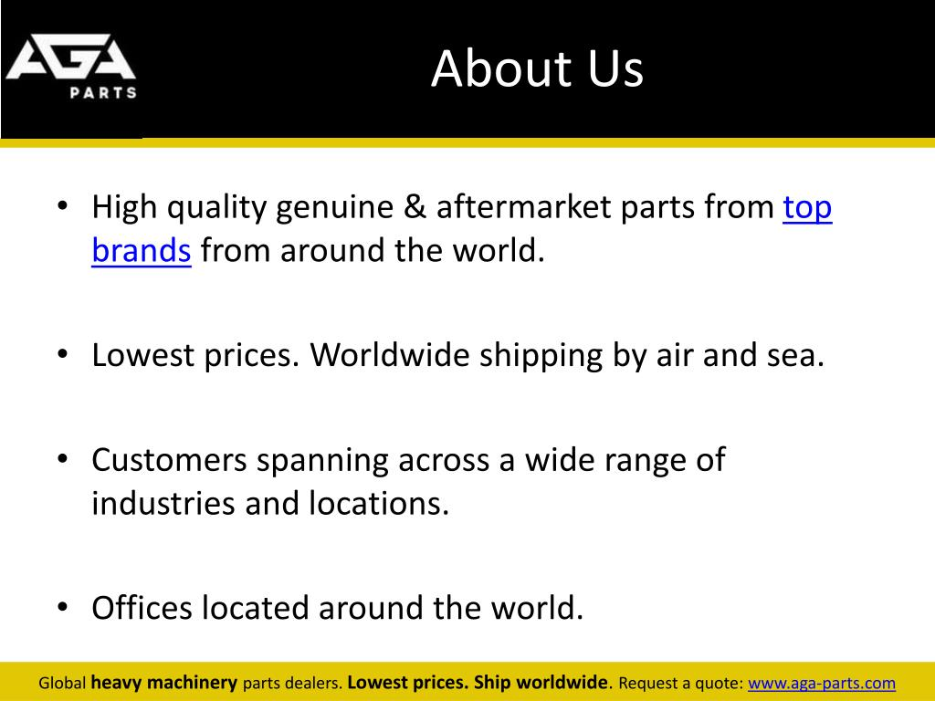 PPT - Hitachi Global Machinery Parts Dealer - AGA Parts PowerPoint