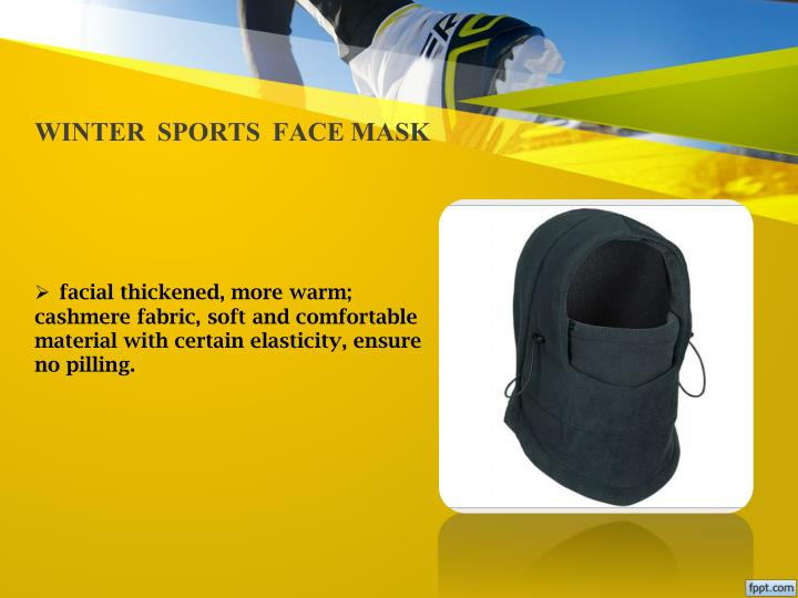 WINTER  SPORTS  FACE MASK