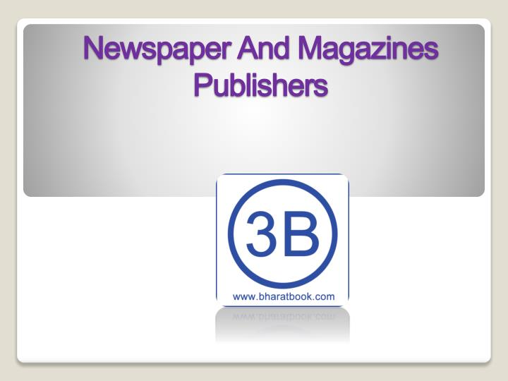 newspaper and magazines publishers n.