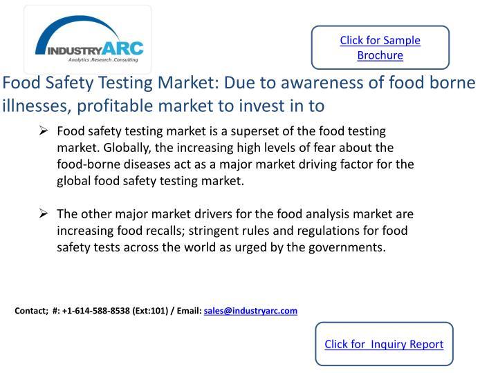 Food Safety Testing Market Industryarc