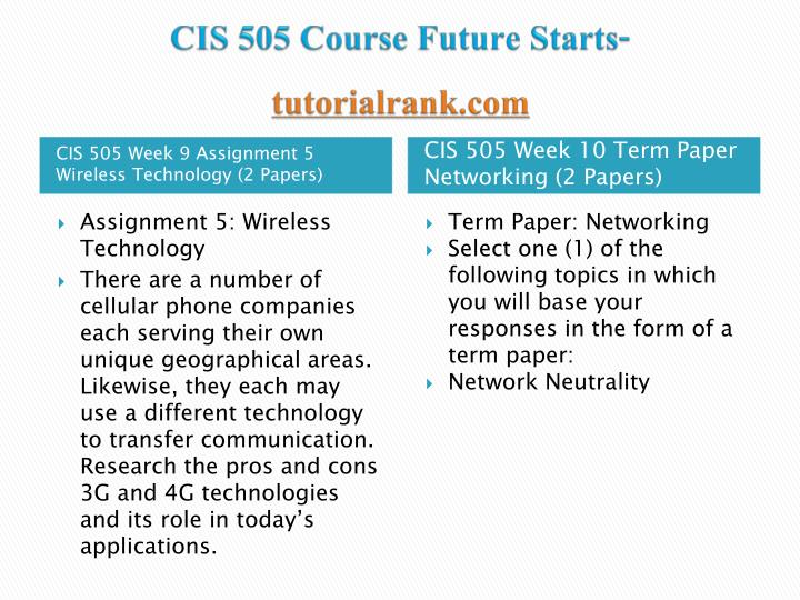 cis505 week 3 discussion Click the button below to add the cis 355a week 5 ilab to your wish list related products cis 355a week 1 ilab $1299 cis 355a week 3 ilab $1299.