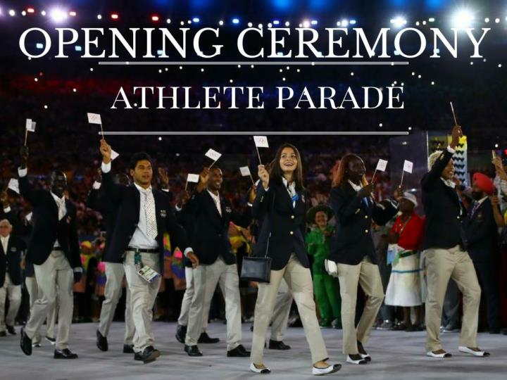 opening ceremony contender parade n.