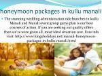honeymoon packages in kullu manali