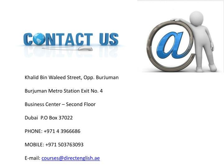 Khalid Bin Waleed Street, Opp.