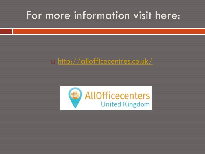 For more information visit here: