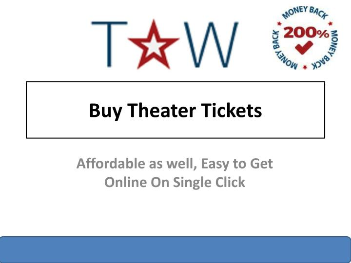 buy theater tickets n.
