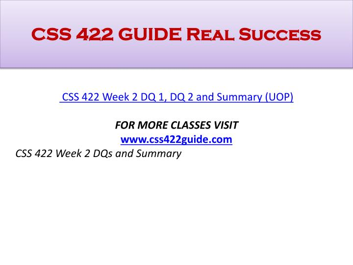 css 422 software architecture Bs computer science systems, (effective fall, 2018, rev 3/17) note: css & prerequisite courses must have a minimum grade of 20 and a cumulative 25 in all combined css courses is required.