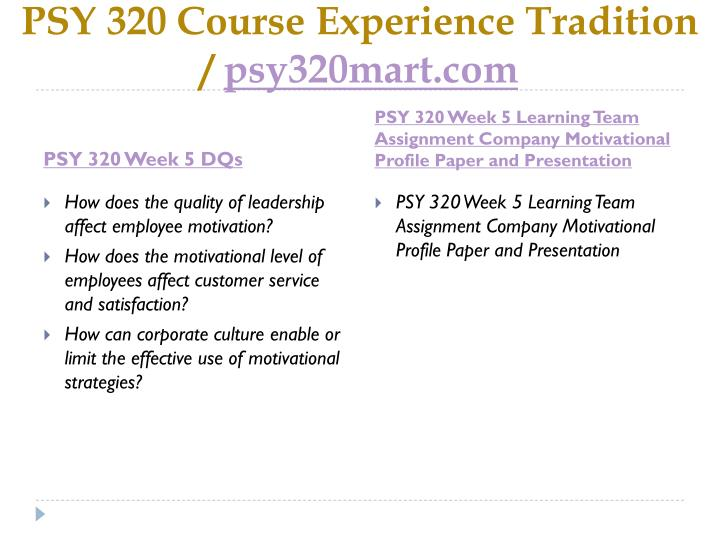 company motivational profile paper and presentation
