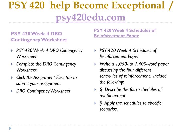 Ppt Psy 420 Help Become Exceptional Psy420edu Com Powerpoint
