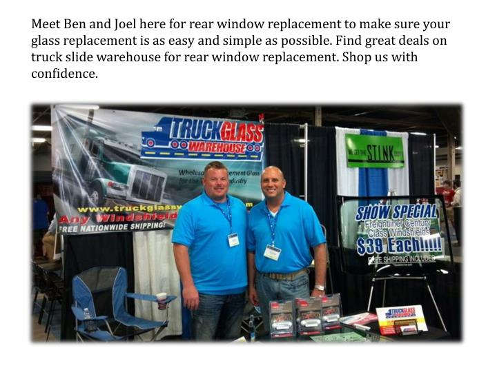 Meet Ben and Joel here for rear window replacement to make sure your glass replacement is as easy an...