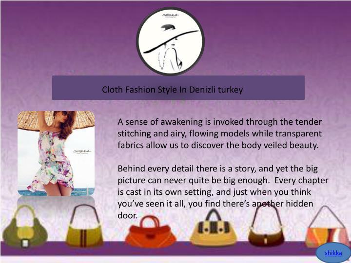 Cloth Fashion Style In