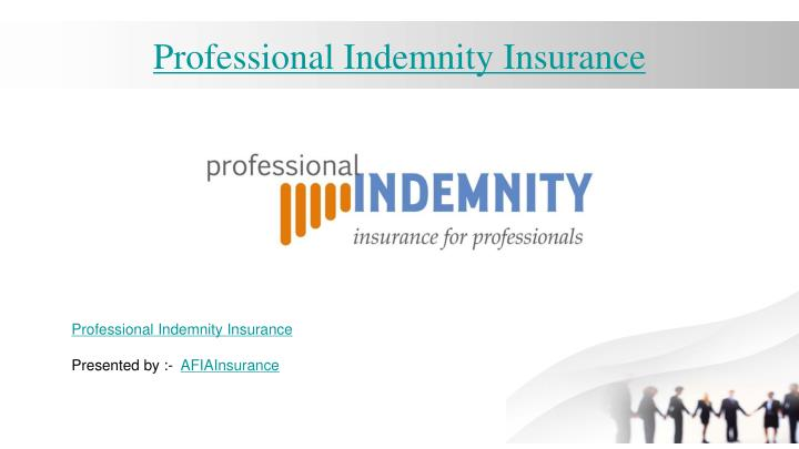 professional indemnity insurance n.