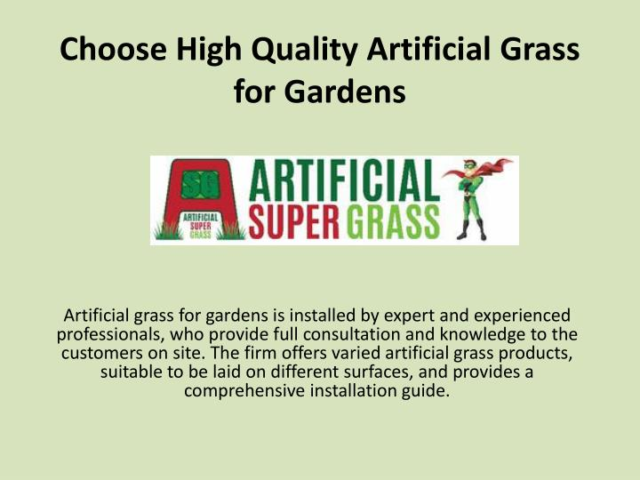 choose high quality artificial grass for gardens n.