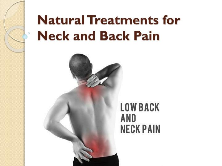 natural treatments for neck and back pain n.