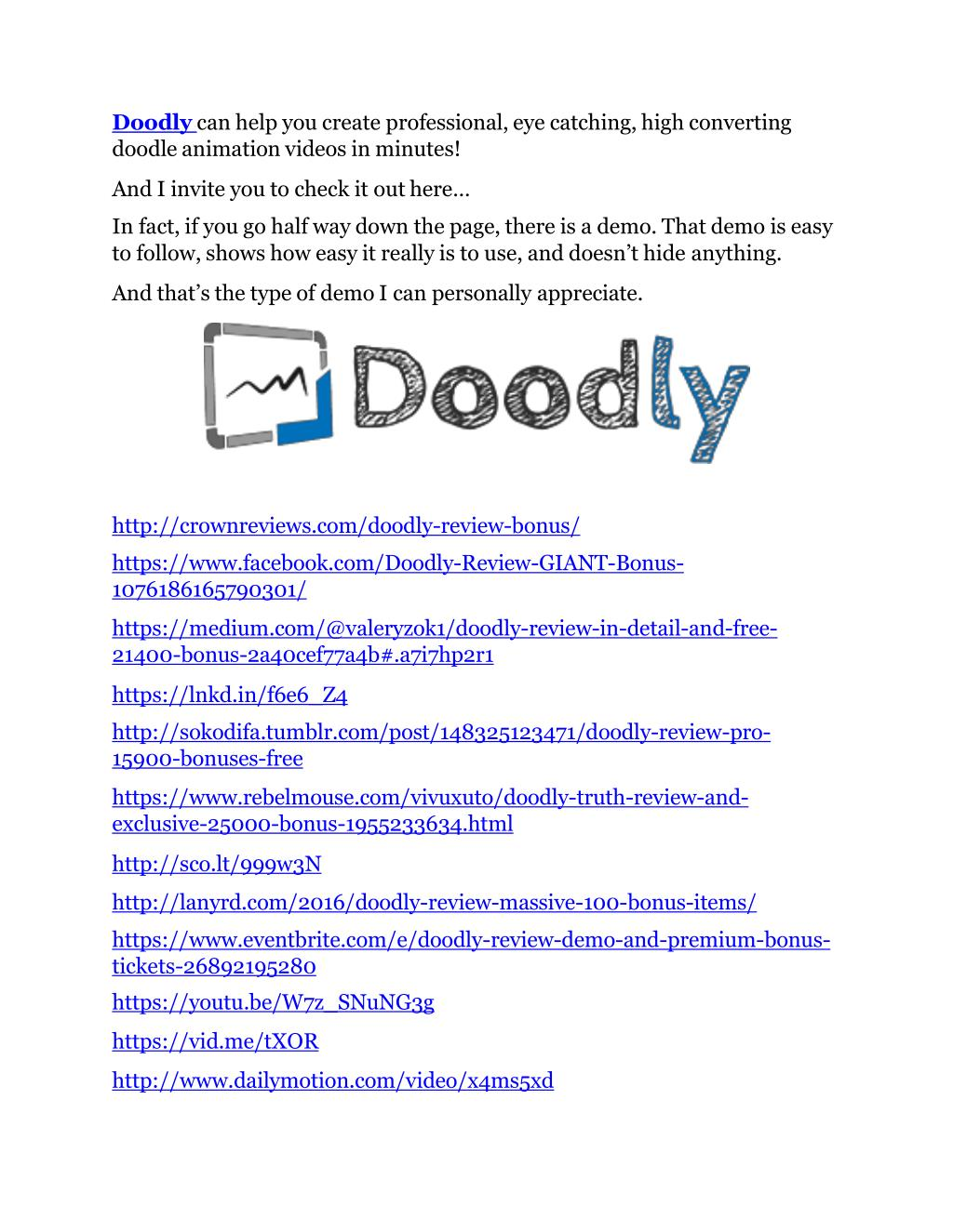 PPT - Doodly review & (GIANT) $24,700 bonus PowerPoint
