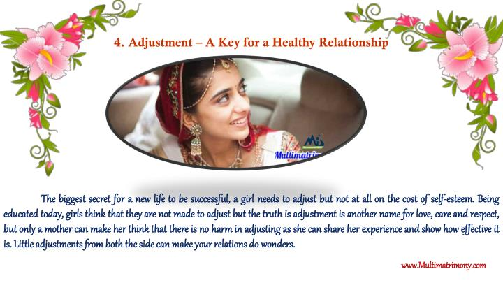 4. Adjustment – A Key for a Healthy Relationship