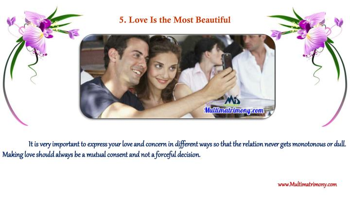 5. Love Is the Most Beautiful