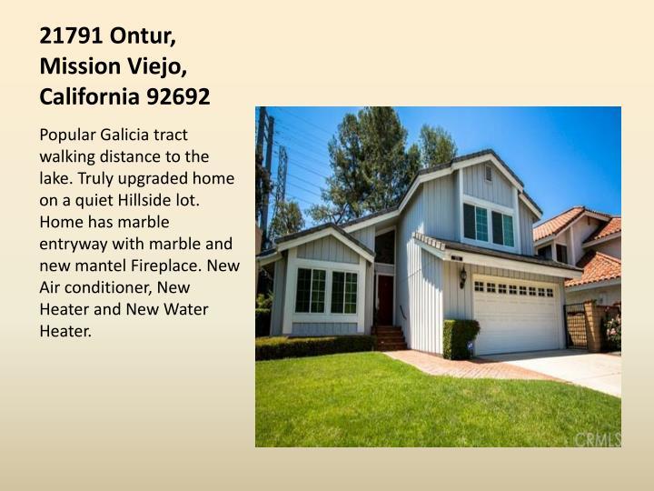 21791 Ontur, Mission Viejo, California 92692