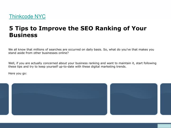 5 tips to improve the seo ranking of your business n.