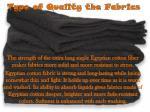 type of quality the fabrics