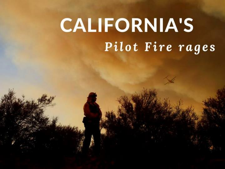 california s pilot fire rages n.