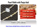 pearl rakhi with pooja thali