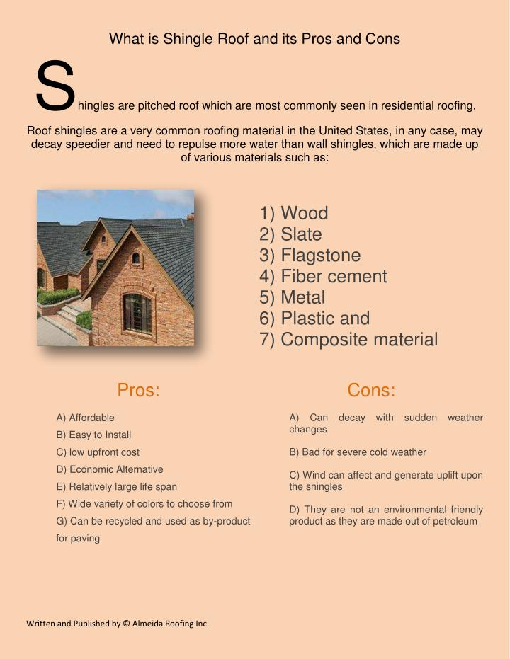 Ppt difference between flat roof and shingle roof for Fiber cement composite roofing slate style