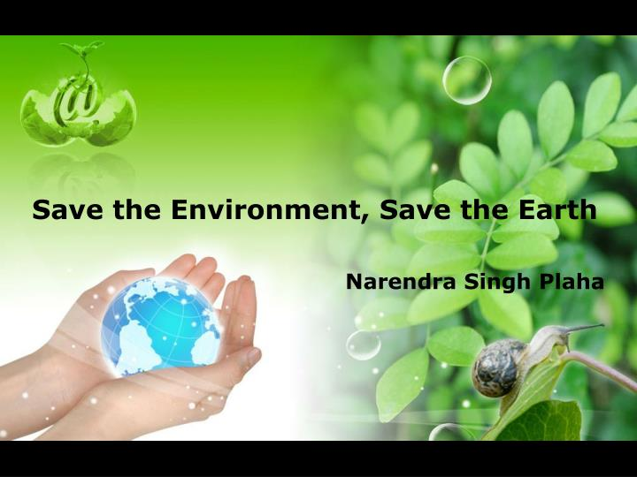 save the environment save the earth n.