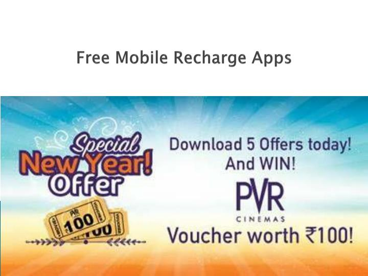 free mobile recharge apps n.