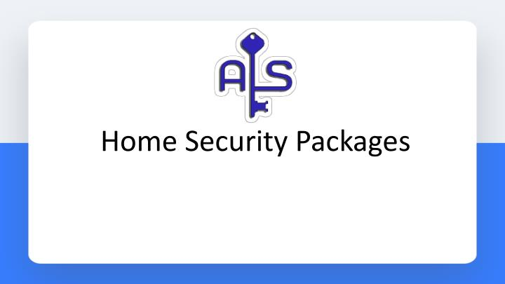 Home Security Packages