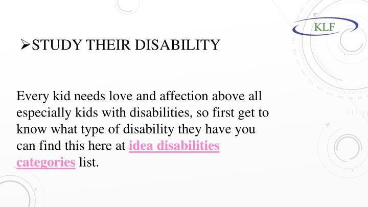 Study their disability