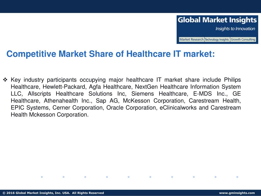 PPT - Healthcare IT market size expected to exceed USD 230