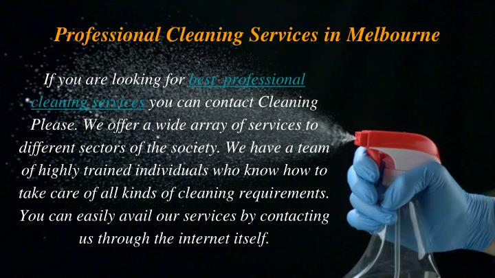 Professional cleaning services in melbourne