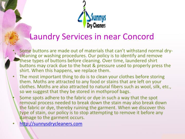 Laundry services in near concord