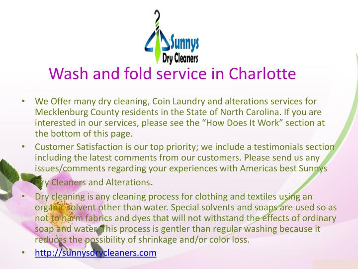 Wash and fold service in charlotte