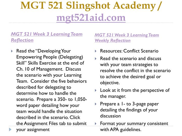 mgt 521 learning team learning team experience reflection Strategic management learning team weekly learning team reflection week 6 mgt/521 learning team reflection management learning team weekly reflection essays.