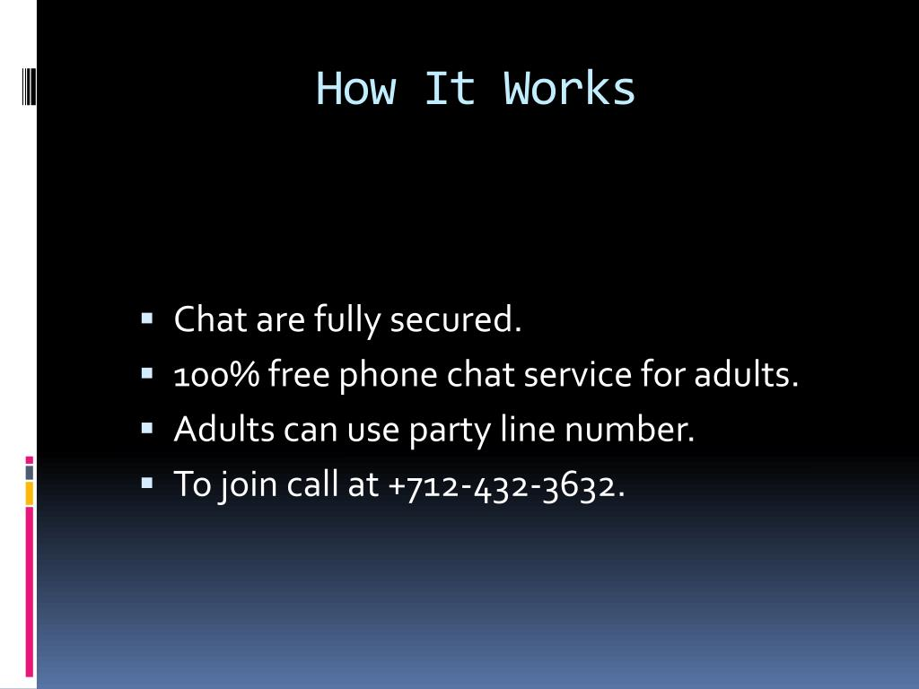 Chat line for adults
